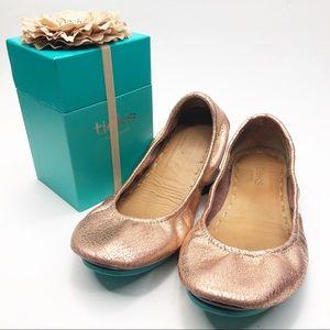 Tieks Rose Gold Glam Ballet Flats